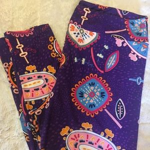Lularoe TC2 Floral leggings